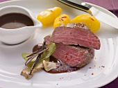 Beef fillet steak with red wine sauce