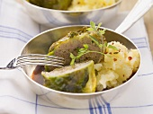 Cabbage roulade with mashed potatoes