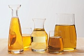 Argan oil, linseed oil, grapeseed oil, rapeseed oil, olive oil