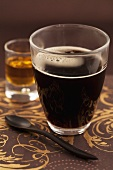 Black coffee with rum