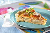 Fennel and salmon tart