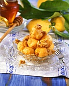 Loukoumades (Greek honey balls with walnuts)
