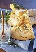 Focaccia al rosmarino e pinoli (Flatbread with rosemary)