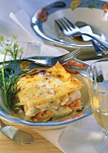 Fish and vegetable lasagne