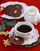 Almond Lebkuchen and a cup of coffee