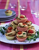 Tomato and olive muffins