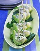 Kohlrabi with blue cheese cream