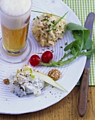 Two kinds of obatzda (Camembert spread) & wheat beer (Bavaria, DE)