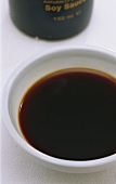 A small bowl of soy sauce