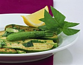 Marinated courgettes with herbs