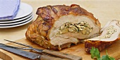 Stuffed veal breast