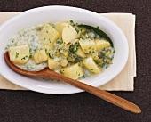 Potatoes in vinegar sauce