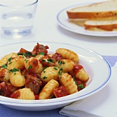 Gnocchi with fish ragout