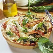 Chard and bacon tart