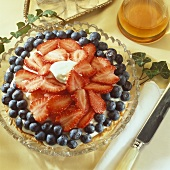 Strawberry and blueberry torte