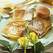 Apricot hazelnut slices with poppy seeds