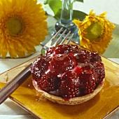 A blackberry tartlet