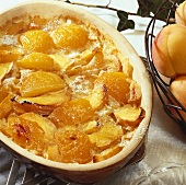 Sweet peach and apricot pudding