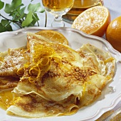 Crêpe Suzette (Crêpe in Cointreau & orange sauce, France)