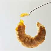 Croissant with kumquat jam