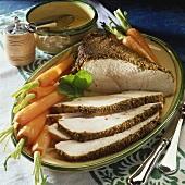 Roast turkey with mustard crust