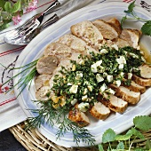 Chicken breast fillet with herbs