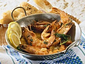 Gambas al ajillo (Prawns with garlic oil, Spain)