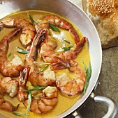 Scampi curry (Prawns in curry sauce)