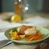 Lengfisch im Parmaschinkenmantel