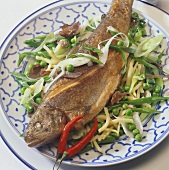 Asian-style fried trout
