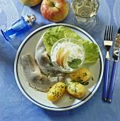 Matjes herrings, 'housewife' style