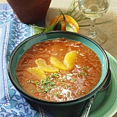 Scharf-fruchtige Tomatensuppe