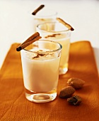 Almond milk with orange water and cinnamon (Morocco)