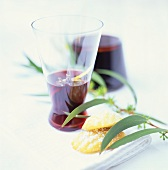 Madeleines with red wine punch