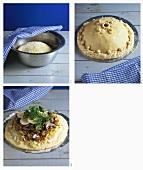 Making kulebiaka (Mince and cabbage pie, Russia)