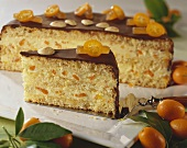 Exotic kumquat cake
