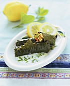 Yaprak Sarmasi (Vine leaves stuffed with rice, Turkey)