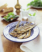 Fried anchovies (Hamsi, Turkish anchovy)