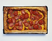 Tomato and pepper tart