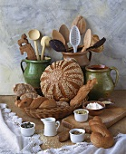 Still life with baked goods