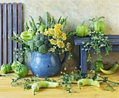 Arrangement of broccoli, peppers, asparagus & celery flowers
