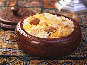 Shirazi Pulao (Saffron rice with mutton meatballs)