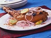 Raan Musallam (Marinated leg of lamb, India)