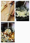 Making Singaporean shrimp curry
