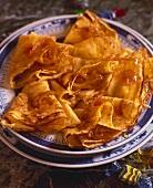 Crêpes with orange filling