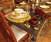 Laid table with autumnal feel
