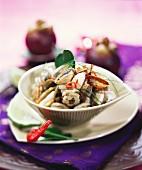 Geng Hoi Ma-laeng Puu Mangrut (Mangosteen & clam curry, Thailand)