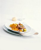 Boiled beef with root vegetables, fried potatoes & horseradish