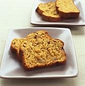 Banana bread (süsses kuchenartiges Gebäck aus den USA)