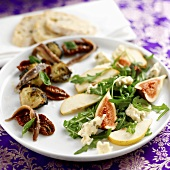 A plate of mixed Mediterranean appetisers
